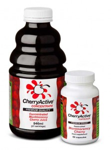 Cherryactive juice concentrate and capsules